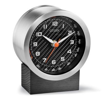 Citizen Custom Engravable Plaque Black Mantel Clock-Cc3000