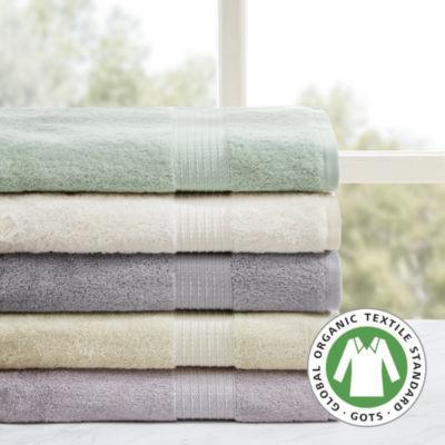 Madison Park Organic Cotton Solid 6-pc. Bath Towel Set
