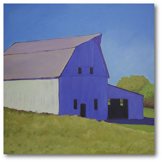 Courtside Market Over The Hill Canvas Art