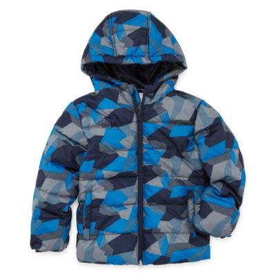 Okie Dokie - Boys Water Resistant Heavyweight Puffer Jacket-Toddler