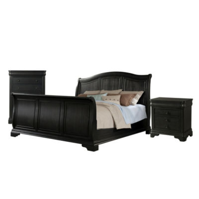 Picket House Furnishings Conley Charcoal Sleigh 3-pc. Set