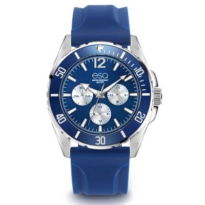 Esq Mens Blue Strap Watch-37esq024501a