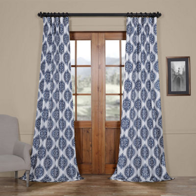 Exclusive Fabrics & Furnishing Donegal Faux Silk Taffeta Blackout Rod-Pocket/Back-Tab Curtain Panel