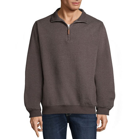 Victory Brushed Fleece Quarter Zip Pullover, X-large , Gray
