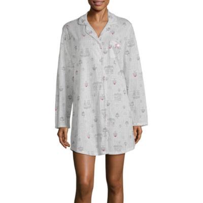 Laura Ashley Notch Collar Sleep Shirt