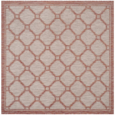Safavieh Courtyard Collection Corrine Oriental Indoor/Outdoor Square Area Rug