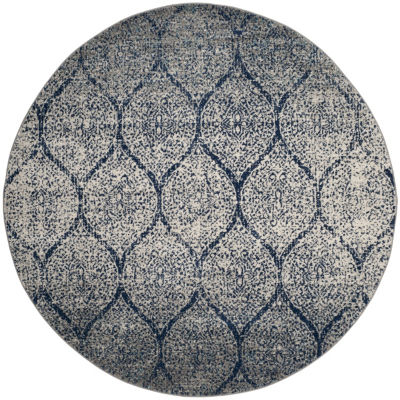 Safavieh Madison Collection Carmen Geometric RoundArea Rug