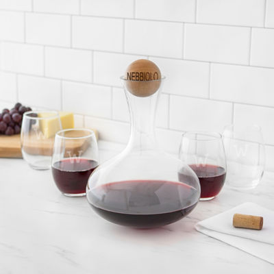 Cathy's Concepts Personalized Wine Decanter & Stemless Glass Set