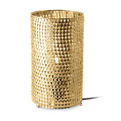 "Watch Hill 11"" Gabriella Brass Plated Metal Shade Table Lamp"