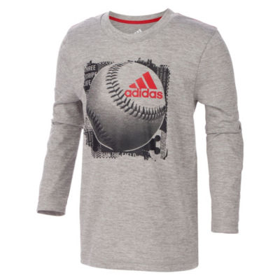 adidas Long Sleeve Graphic T-Shirt-Preschool Boys