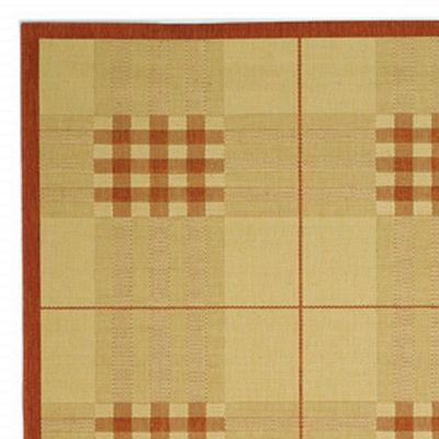 Safavieh Courtyard Collection Arthur Plaid Indoor/Outdoor Runner Rug