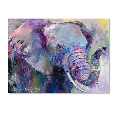 Trademark Fine Art Richard Wallich Blue Elephant Giclee Canvas Art