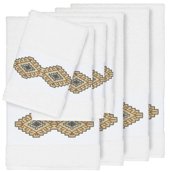 Linum Home Textiles 100% Turkish Cotton Gianna 8PC Embellished Towel Set