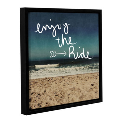 Enjoy The Ride Floater-Framed Gallery Wrapped Canvas