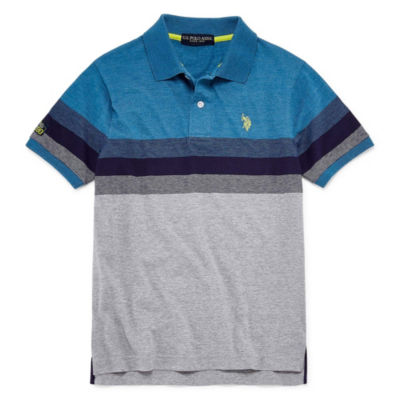U.S. Polo Assn. Short Sleeve Stripe Jersey Polo - Big Kid Boys