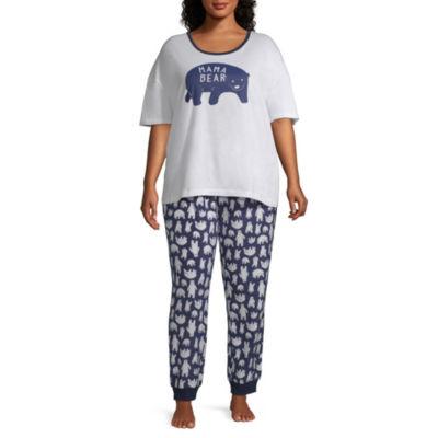 Sleepy Nites Polar Bear 2 Piece Pajama Set -Women's Plus
