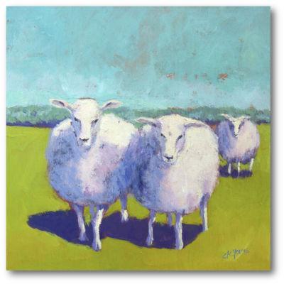 Sheep Pals I Canvas Art