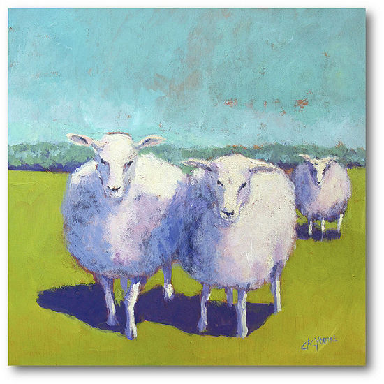 Courtside Market Sheep Pals I Canvas Art