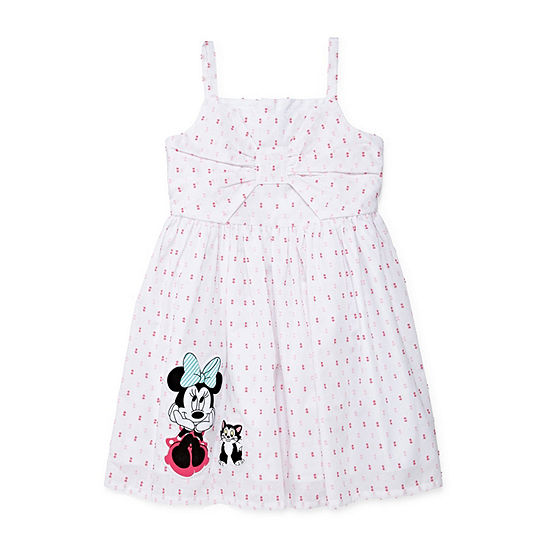 Disney Collection Little & Big Girls Sleeveless Minnie Mouse Sundress