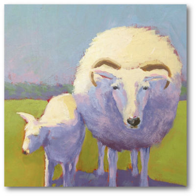 Sheep Pals II Canvas Art