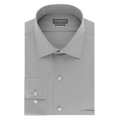 Van Heusen Flex Cool Collar Long Sleeve Twill Dress Shirt