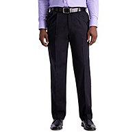 Essentials Expandable Waist Classic-fit Flat-Front Dress Pants Dress-Pants Hombre