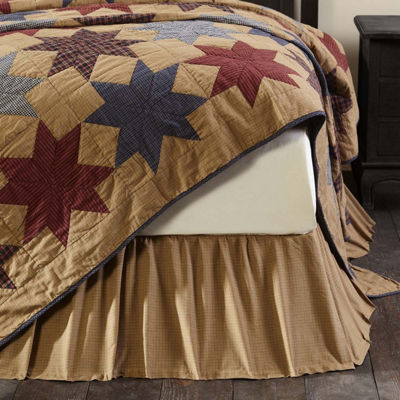 VHC Classic Country Primitive Bedding - Kindred Star Bed Skirt