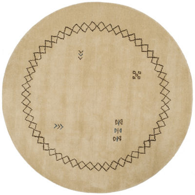Safavieh Himalaya Collection Harold Border Round Area Rug