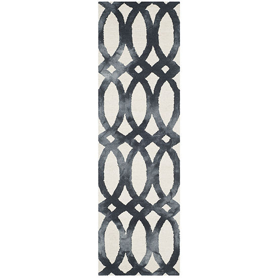 Safavieh Dip Dye Collection Maralyn Geometric Runner Rug