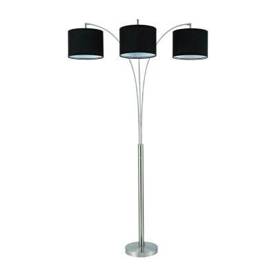 """82"""" Orton Black Shade Trio Floor Lamp"""