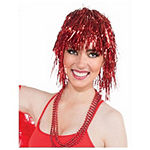 Red Tinsle Wig Dress Up Accessory