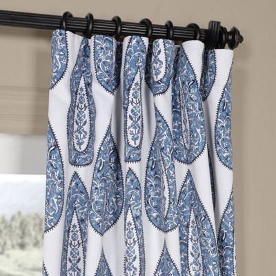 Exclusive Fabrics & Furnishing Medallion Blackout Rod-Pocket/Back-Tab Curtain Panel