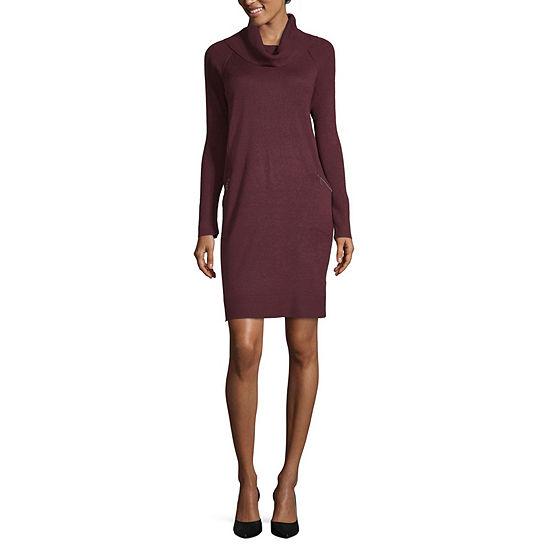 efca921e16 Worthington Long Sleeve Sweater Dress - JCPenney