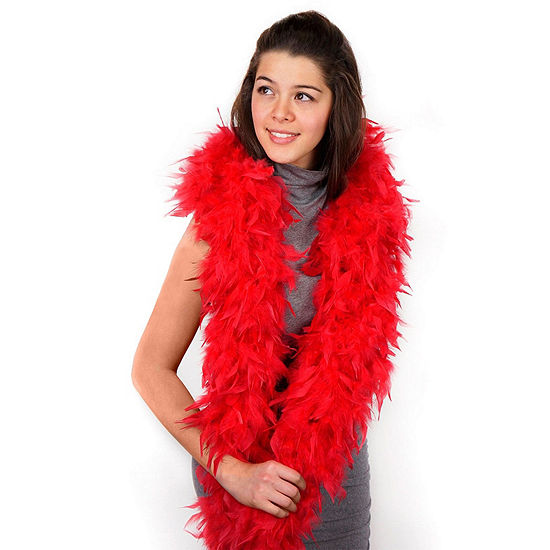 Shop By Color - Red: Red Boa Dress Up Accessory
