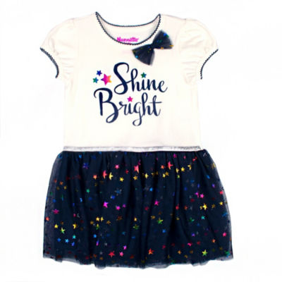 Nanette Baby Short Sleeve Tutu Dress - Baby Girls
