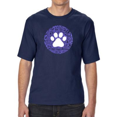 Los Angeles Pop Art Boy's Raglan Baseball Word Art T-shirt - Lots of Love