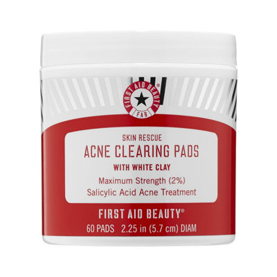 First Aid Beauty Skin Rescue Acne Clearing Pads with White Clay