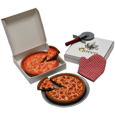 The Queen's Treasures 18 Inch Doll Pizza Night Set Pizzas & Pan