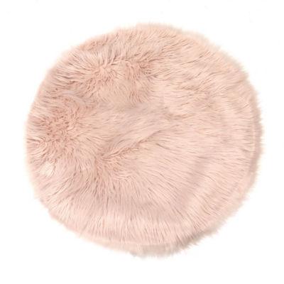 Faux Fur Shag Round Rugs