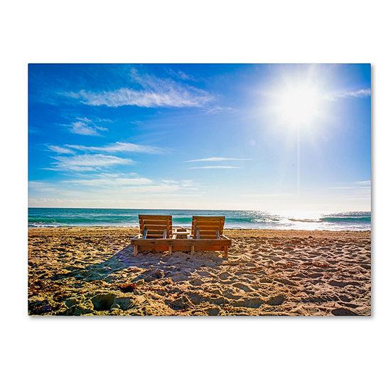 Trademark Fine Art Preston Florida Beach Chair Giclee Canvas Art