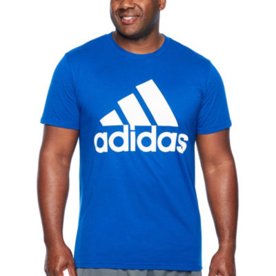 Adidas Short Sleeve Crew Neck T-Shirt-Big and Tall