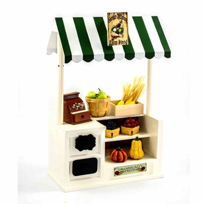 The Queen's Treasures Farm Stand Roof & Sign Set For 18 Inch Dolls