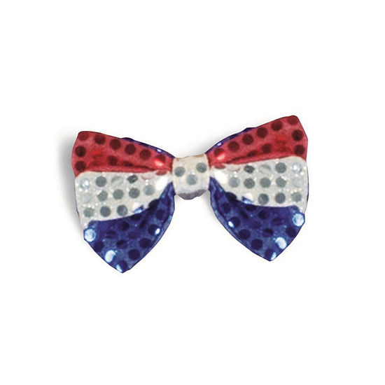 Red White & Blue Bow Tie Dress Up Accessory