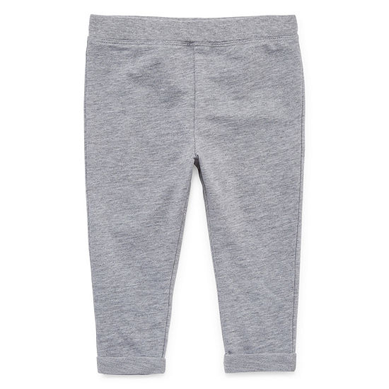 Okie Dokie Jogger Baby Girls Straight Pull-On Pants