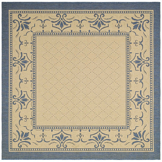 Safavieh Courtyard Collection Alden Oriental Indoor Outdoor Square Area Rug