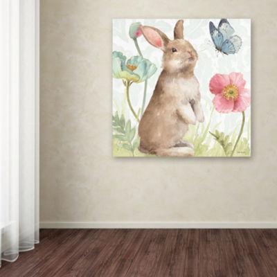 Trademark Fine Art Lisa Audit Spring Softies Bunnies II Giclee Canvas Art