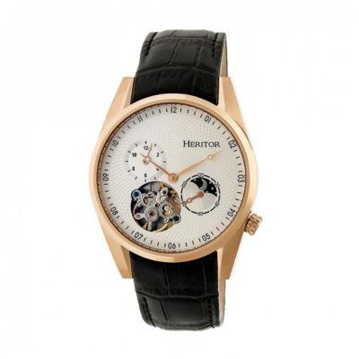 Heritor Alexander Mens Black Strap Watch-Herhr4905