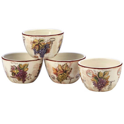 Certified International Vintners Journal 4-pc. Rice Bowl
