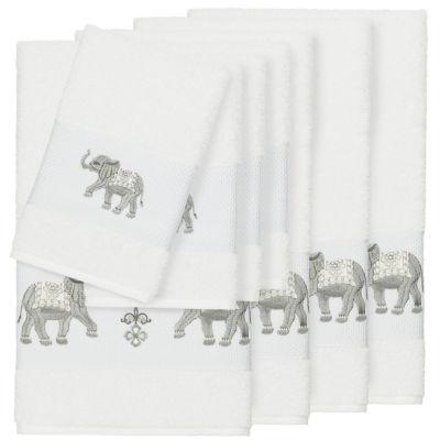 Linum Home Textiles 100% Turkish Cotton Quinn 8PC Embellished Towel Set