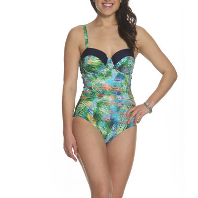 Sun and Sea Desert Palms Cut Out One Piece Swimsuit